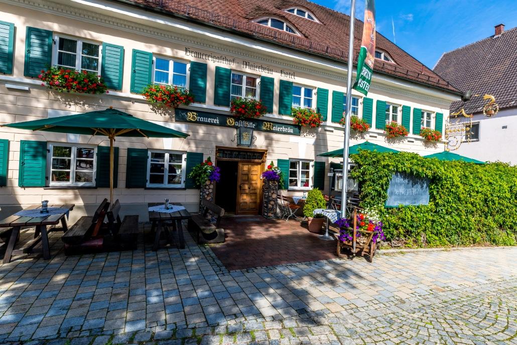 Brauereigasthof Maierbräu Altomünster Eingang
