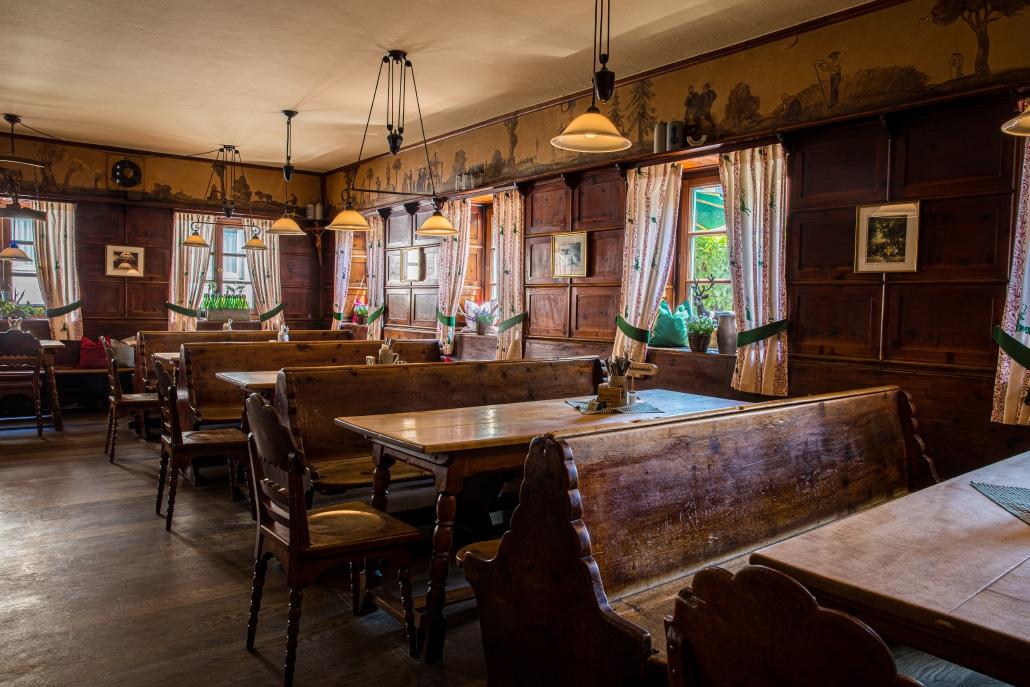 Brauereigasthof Maierbräu Altomünster - historische Gaststube